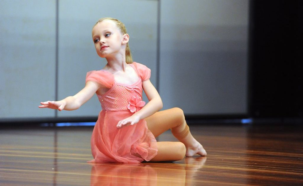 Elle Hetherington competing in the Under 10's Contemporary or Free Movement Solo.