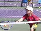 Hot Shots junior tennis fun day at the City of Ipswich International Pro tour.