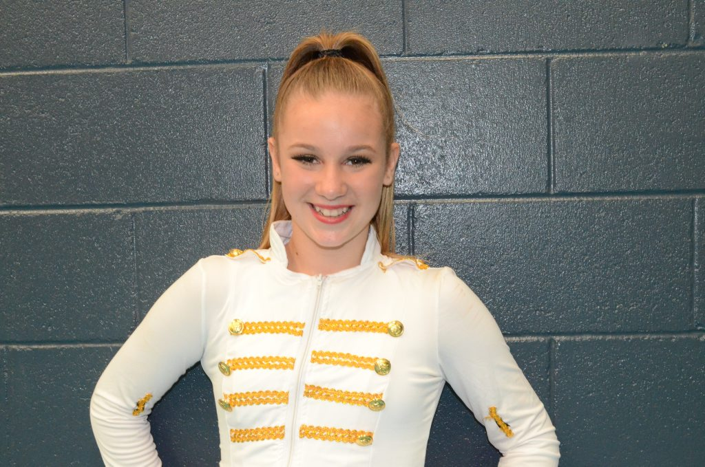 Yasmine McGuiness, 12, from Danceography competed at the 2013 Gladstone Dance Festival.