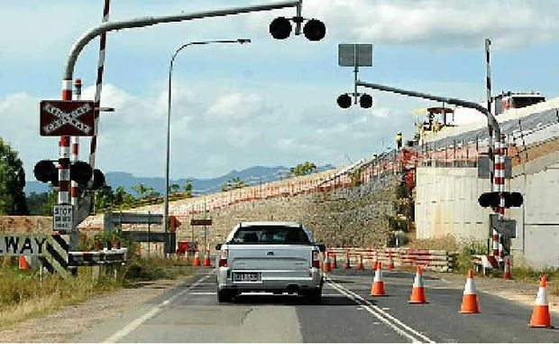DANGER SPOT: The Rungoo overpass in Cardwell when it was under construction, it has since opened.