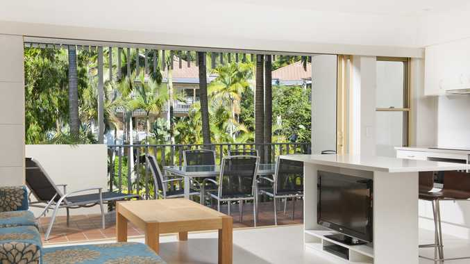 Living area of apartment at Mantra French Quarter Noosa.