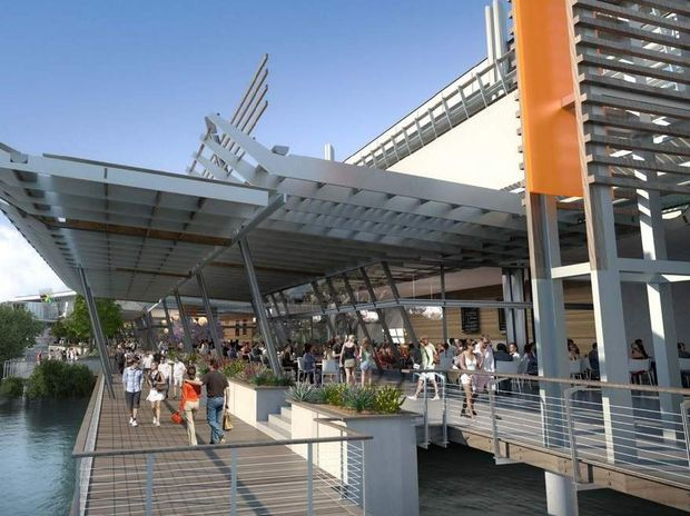 An artist's impression of part of the Sunshine Plaza expansion.