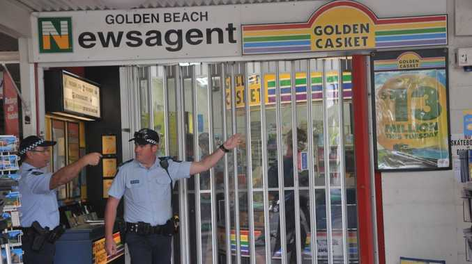 A Woodford man has been charged in relation to the armed robbery of Golden Beach Newsagency.