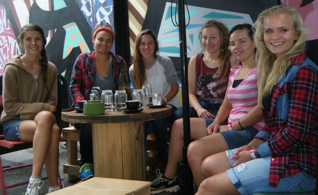 Easterfest volunteers Bri Kupke, Caitlin Whelpton, Julia Rogers, Haley Hulsing, Anita Dueck and Noora Hintsa.