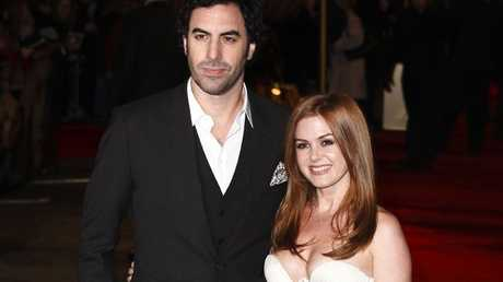 Sacha Baron Cohen (left) and Aussie wife Isla Fisher.