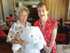 Barbara Reynolds and Norma McLeod enjoying the Friends of the RSPCA cent sale in March at the Gladstone Bowls Club.