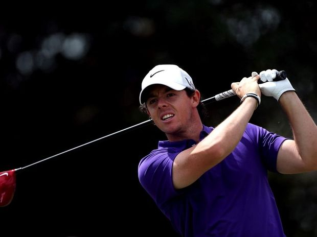 Rory McIlroy of Northern Ireland tees off on the fifth hole during the final round of the WGC - Cadillac Championship at the Trump Doral Golf Resort & Spa on March 10, 2013 in Doral, Florida.