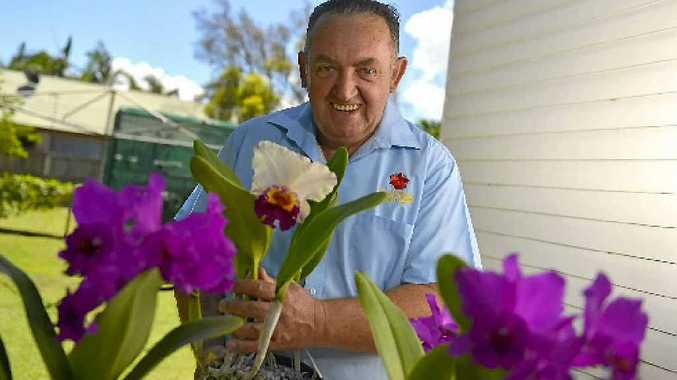 Society president Len Dowling says orchids are forever.