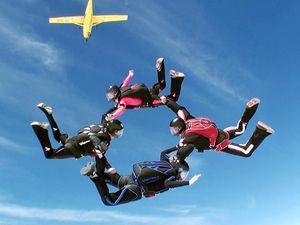 Skydivers over Toogoolawah