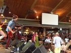 One of the bands playing at the Buskers Competition at the Beach Hotel as part of Byron Bay Bluesfest.