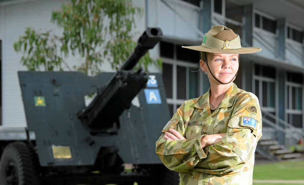 Major Tina McBride juggles being a single mum and life in the army.