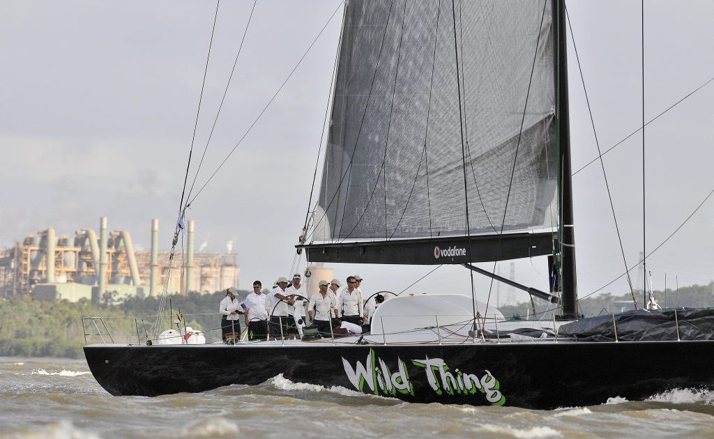 Wild Thing wins line honours at the QantasLink Brisbane to Gladstone Yacht Race.