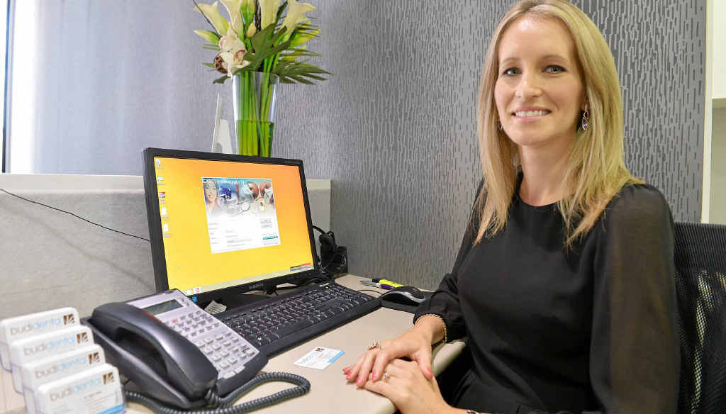 NEW TREND: Budi Dental practice manager Kacey Muttock says online bookings are popular.