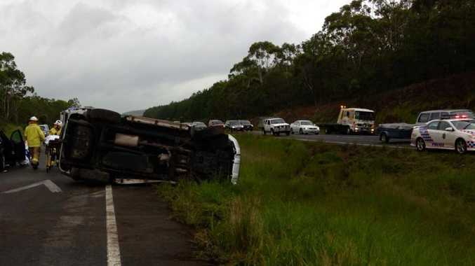 BOTH directions of the Bruce Hwy near Caloundra have slowed following a multi-vehicle crash.