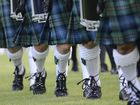The finale to the 109th Maclean Highland Gathering at the Maclean Showground on Saturday, the massed bands display. Photo Debrah Novak / The Daily Examiner