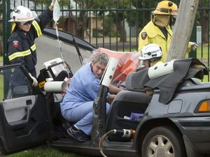Easter tragedy avoided after woman slams into power pole