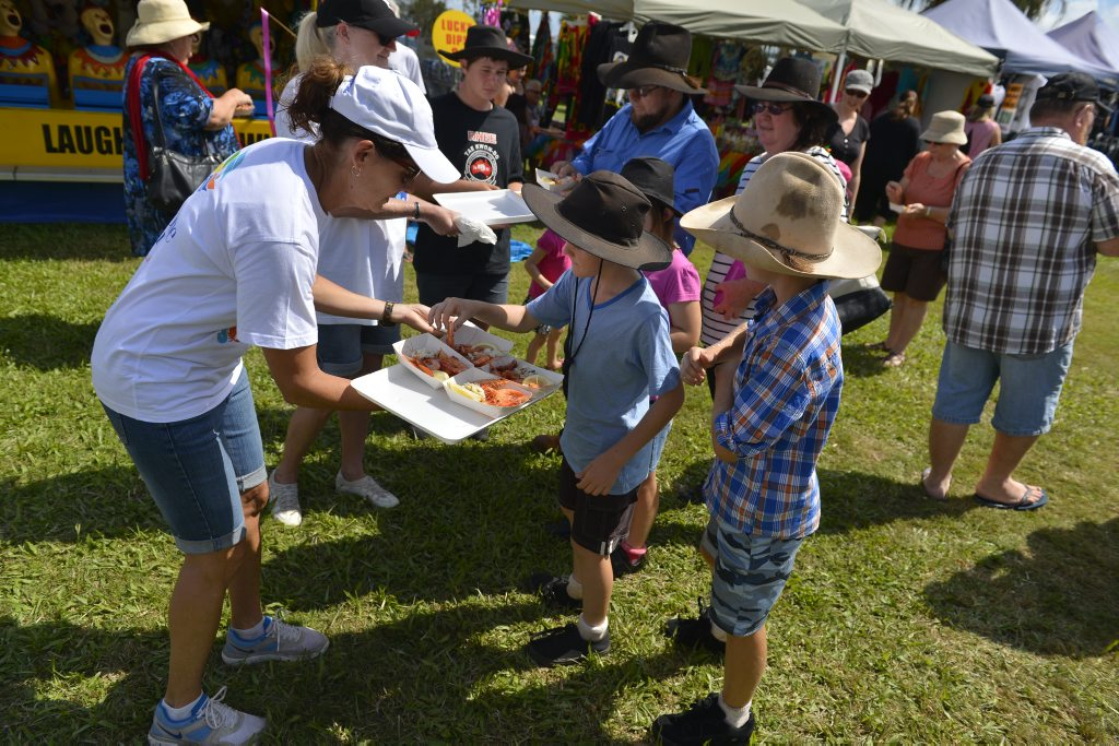 Prawns from Gladstone Harbour got the tick of approval at the Gladstone Harbour Festival.