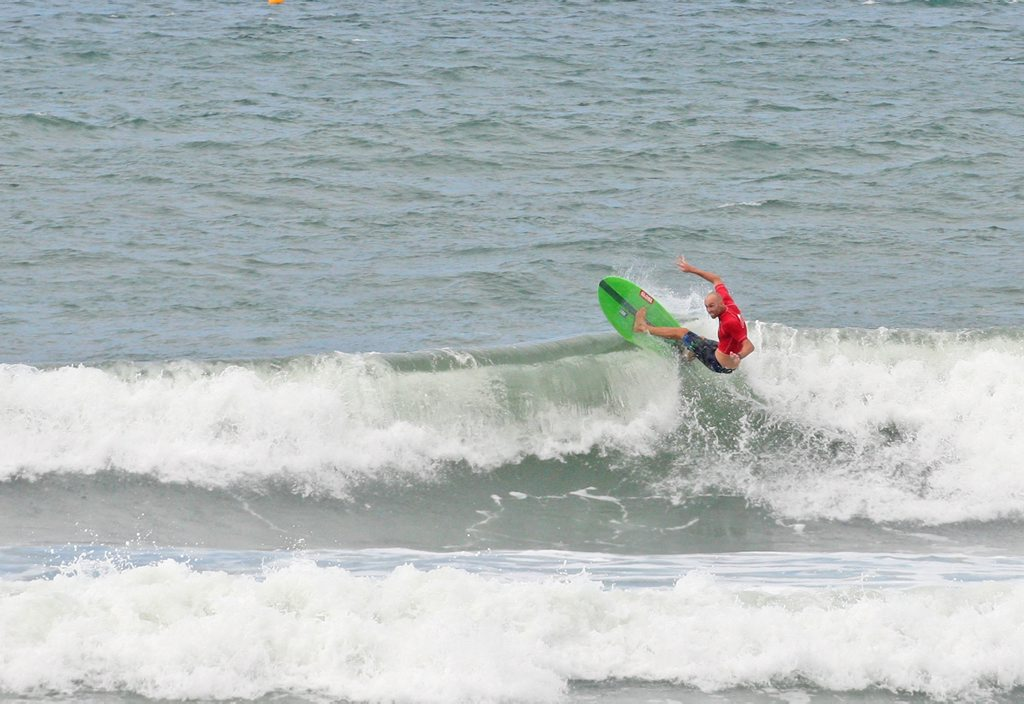 Blake Wilson in the Windansea Pa and Ma Bendall Memorial Open Mens final. Photo Darryn Smith / Sunshine Coast Daily