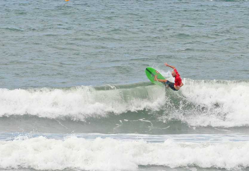 Blake Wilson in the Windansea Pa and Ma Bendall Memorial Open Mens final. Photo Darryn Smith / Sunshine Coast Daily