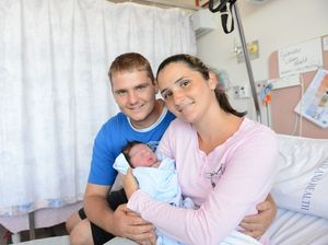 Father delivers first son at home on the kitchen floor
