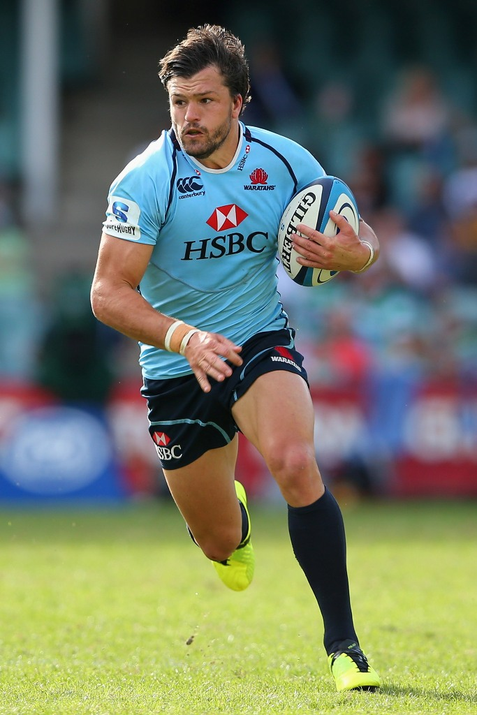 Adam Ashley-Cooper of the Waratahs runs the ball during the round seven Super Rugby match between the Waratahs and the Force at Allianz Stadium on March 31, 2013 in Sydney, Australia.