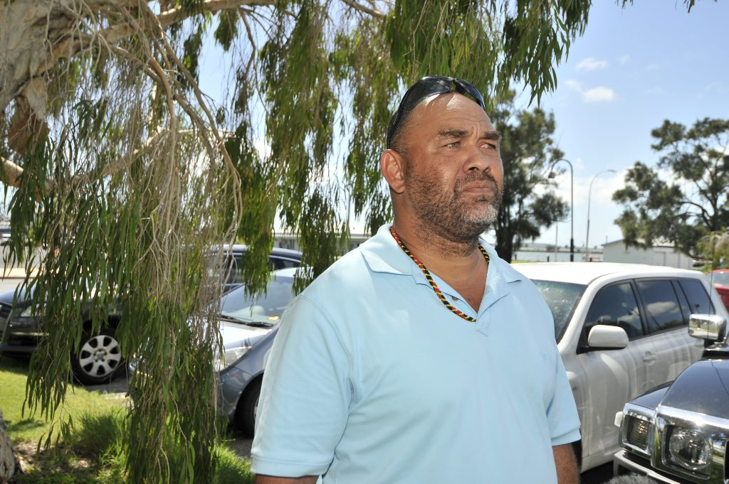 Gladstone Alliance spokesman Michael O'Shane calls for more opportunities for indigenous workers on Curtis Island.