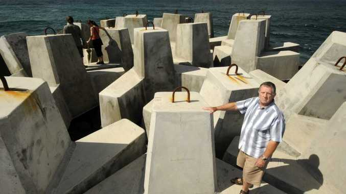 Brian Mullens of Ballina, thinks the new concrete blocks at the end of North wall in Ballina look ugly.
