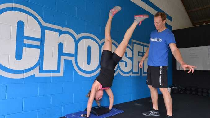 CrossFit SC gym in Maroochydore. Naomi Howell and Blair Megson.