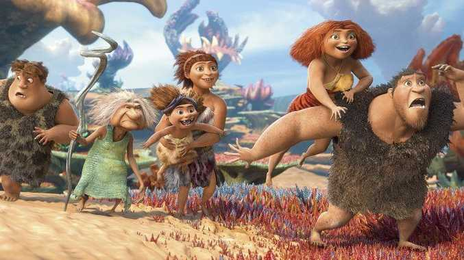 A scene from the movie The Croods.
