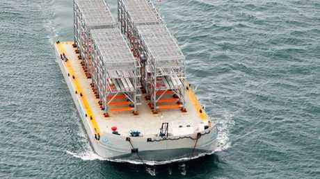 Australia Pacific LNG Project unloaded the first LNG modules on Curtis Island following their arrival in Gladstone Harbour over the Easter weekend.
