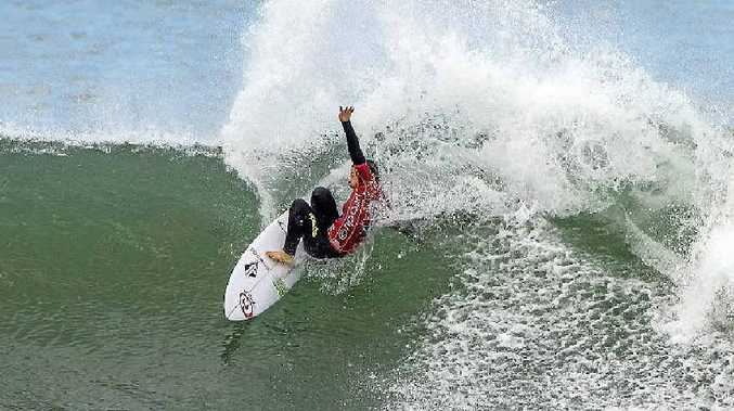 FINALIST: Lennox Head's Tyler Wright competing at Bells Beach.