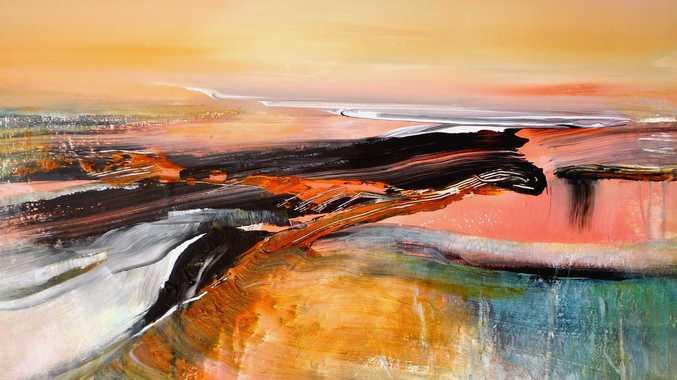 Lyne Marshall, Sands of Time. acrylic on canvas