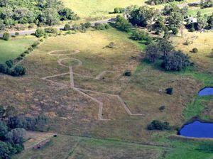 Man uses GPS mapping to create 'saintly' mower art