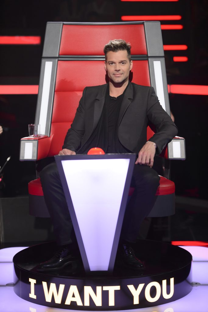 Ricky Martin stars on the TV series The Voice Australia.