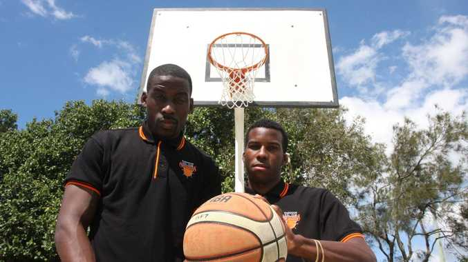 Suncoast Clippers announce new signing. American basketball players join Sunshine Coast team. Pictured: Winston Robinson from Philadelphia and Johnathan Hudson from Texas. Photo Kristy Muir / Sunshine Coast Daily