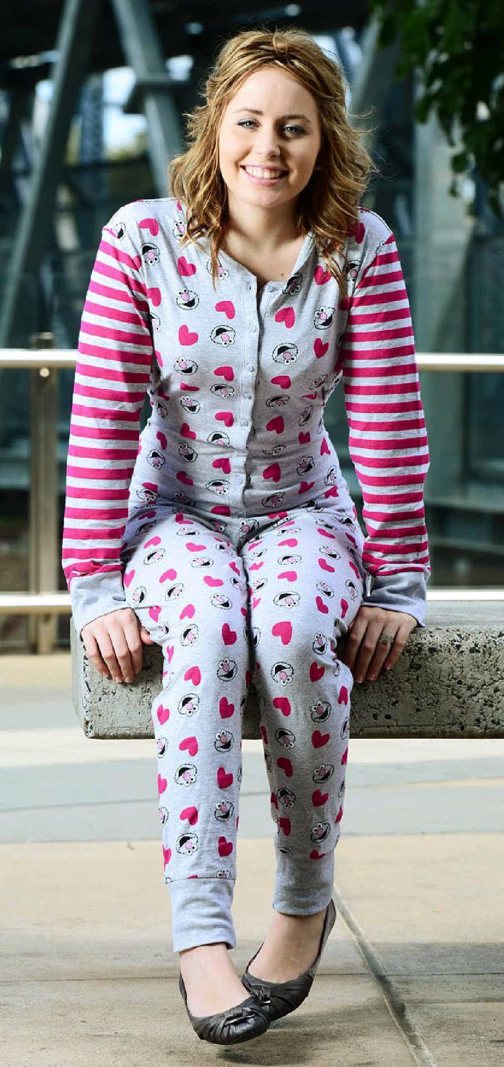 ROMPER SUIT: Bras N Things Riverlink manager Shannon Urquhart models the very popular onesie.