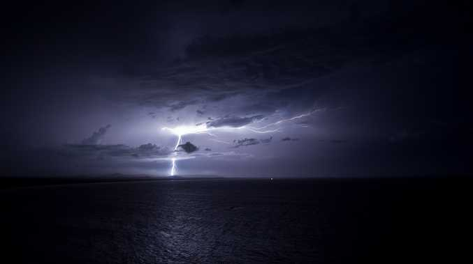 Mark Heath sent in this spectacular photo of last night's storm, taken from the Evans Head lookout.