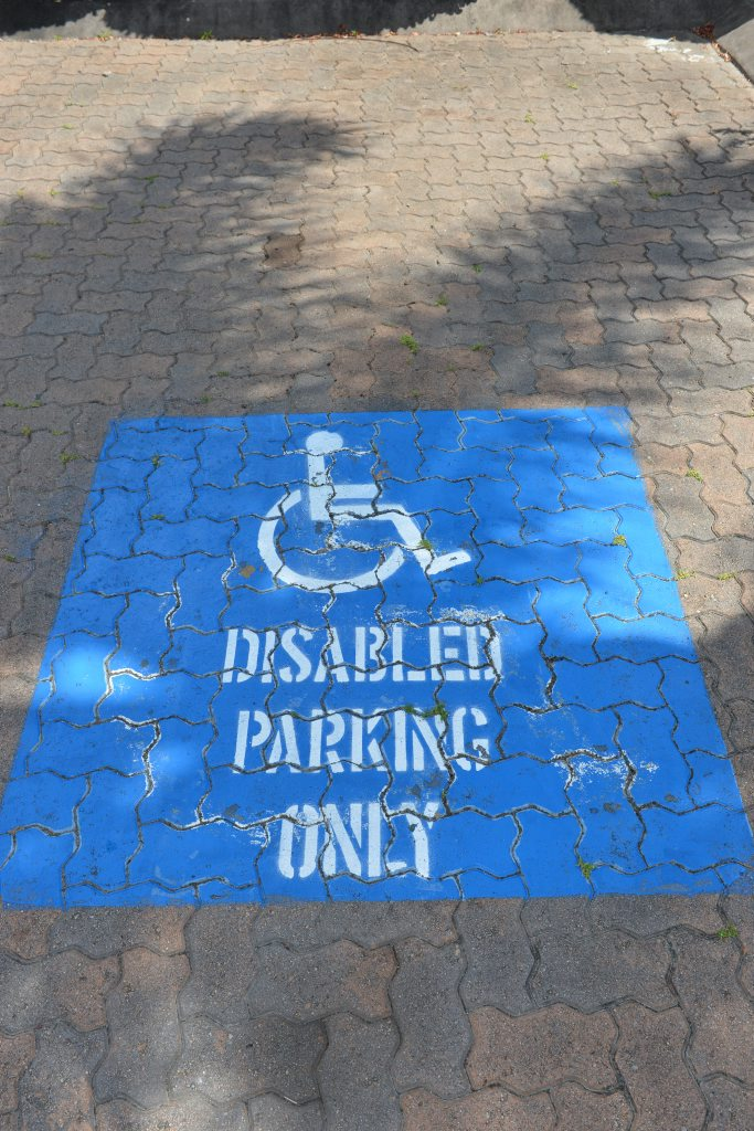 The page aims to stamp out people parking in disability parking spaces without a permit.
