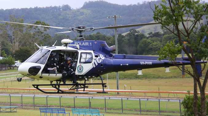 The police helicopter, Polair 1,during this year's cannabis eradication program.