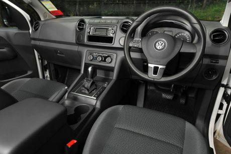 Inside the VW Amarok TDI420.
