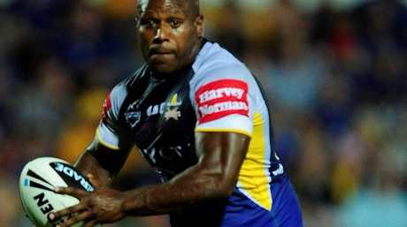 Robert Lui of the Cowboys runs the ball during the round one NRL match between the North Queensland Cowboys and the Gold Coast Titans at Dairy Farmers Stadium on March 3, 2012 in Townsville, Australia.