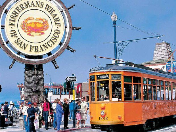 San Francisco's famous Fisherman's Wharf precinct.