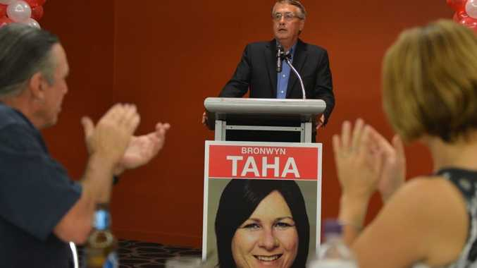 Acting Prime Minister Waayne Swan speaks at the launch of Bronwyn Taha's campaign to be the next Labor Candidate for Dawson. Photo Lee Constable / Daily Mercury