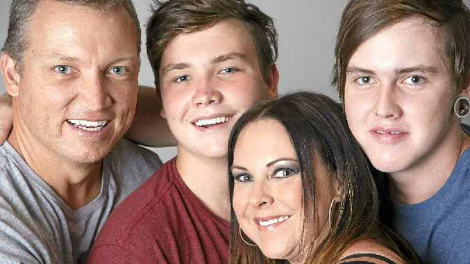 LIFE CUT SHORT: Jukes Campbell with her husband, Jonathon, and their boys Joe, 16, (left) and Jackson, 19.