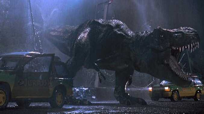 A scene from the movie Jurassic Park, which is being re-released in 3D.