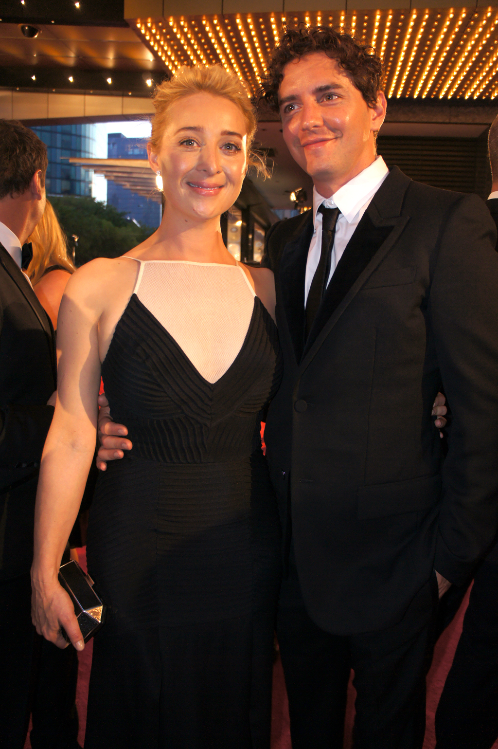 Gold Logie winner Asher Keddie on the red carpet.