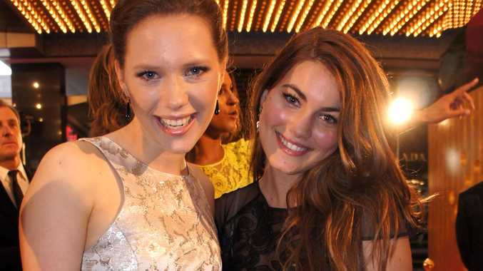 Puberty Blues stars Brenna Harding and Charlotte Best on the red carpet.