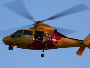 Woman airlifted after being attacked by cow