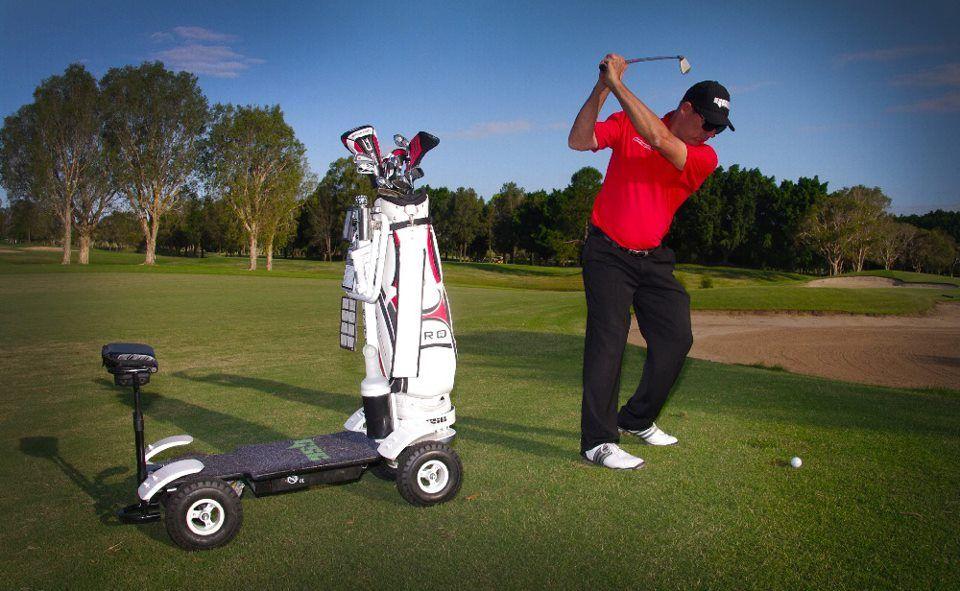 Sunshine Coast based PGA Professional Darrell Dalton the Golf Skate Caddy.