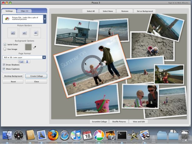 Google's Picasa is one of the easiest-to-use image editing programs around.